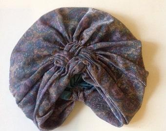 Silk sparkling vintage hat