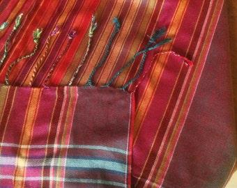 Large ethnic fabric Masai Kenia Tanzania. Bedouin tribal, African, nomadic tribes. Many uses fabric. Masai Fabric. SW207