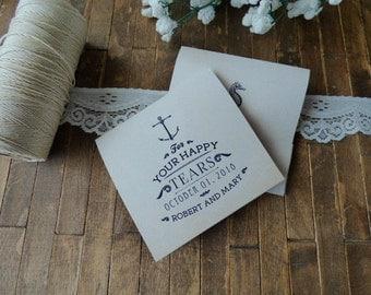 20 Tears of Joy Tissue Packs, Wedding Tissues, for tears of joy, happy Tears Packs,Vintage Seaside Design,Customized tissue packs