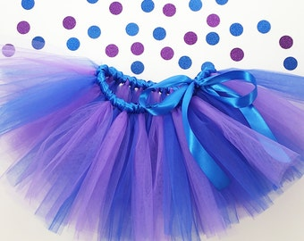 Children's Tutu-Beautiful two color tutu with matching ribbon bow.