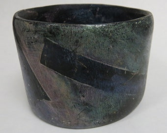 painted wood bangle bracelet