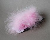 Dog Feather Accessories - Dog Feather Pom Pom Hair Bows - Set of 2 - Dog Grooming Feather Bows - Dog Accessories