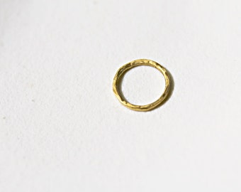 24k solid gold circle charm