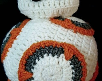 Crocheted Star Wars BB-8 Plushie or Pillow