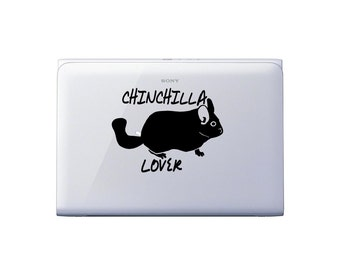 Chinchilla lover decal in 8 colors