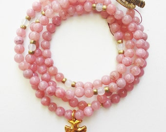 pink jade necklace