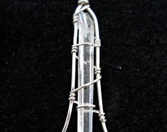 Laser Wand Crystal Pendant # 40
