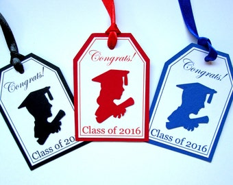 Graduation Gift Tags, Graduation Tags, Graduation Party Tags, Class of 2017, Graduation Favor Tags, School Graduation Décor