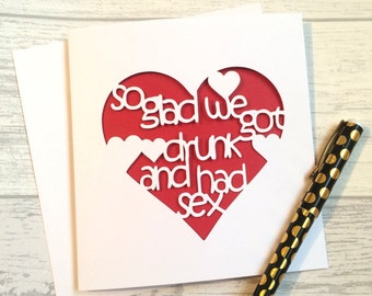 Anniversary card, Valentine's card, birthday card boyfriend, card for husband, valentines day, boyfriend birthday, rude card, card for man