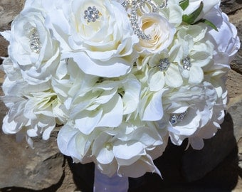 Bridal Bouquet, Brides Bouquet, Wedding Bouquet, Wedding Flowers, Wedding Decor, Brides Bouquets,  Peony Hydrangea Bouquet, Garden Bouquet