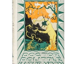 Doctor Dolittle in the Moon by Hugh Lofting 1928, 1956 16th  impression