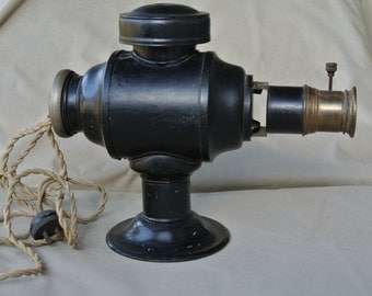 Antique Electric Metal Magic Lantern Projector