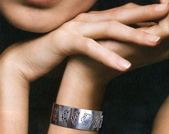 Cuff Bracelet, Designed & made by me, Silver Sterling (925)