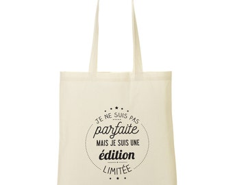 Tote bag I am a limited edition