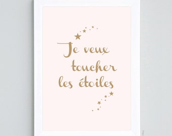 Poster I want to touch stars - A4 size