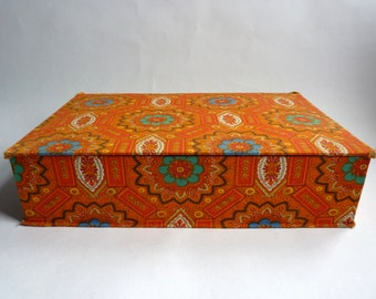 fabric covered vintage French cardboard box