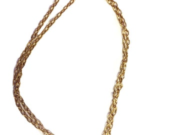 Gold Plated Chainlink Multilayer Necklace