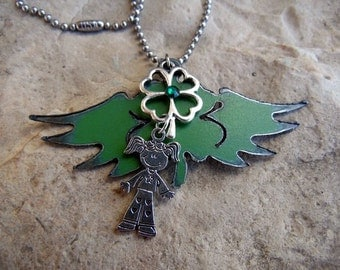 4H Jewelry, 4H Necklace, 4H Gift, Four Leaf Clover, 4H Charm Necklace, 4H Clover, 4H Mom, Show Mom, Clover Necklace, 4 Leaf Clover, 4H, 4-H