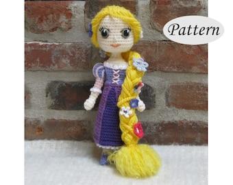 Amigurumi Queens : PATTERN Snow Queen Elsa Amigurumi Crochet Doll Photo