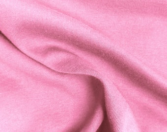 Pink Cotton Spandex Jersey Knit 10 oz Fabric by the Yard #453