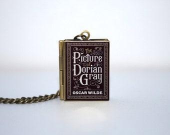 Picture of Dorian Gray Book Locket | Antique Brass Necklace | Oscar Wilde
