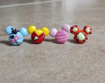 Winnie the Pooh, Piglet, Tigger, Eeyore Inspired Mouse Earrings