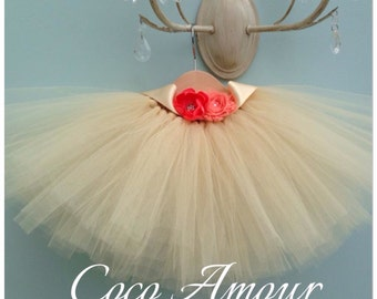 Flower Girl Tutu with sash perfect for weddings, bridesmaids ages 0-12yrs - all colours