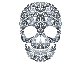Skull - Machine Embroidery Design - Instant Download - Six sizes