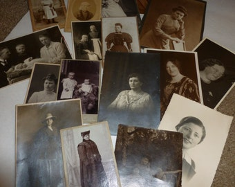 Antique Photographs From The Netherlands / Lot Of 17