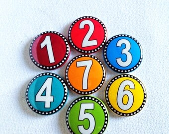 Classroom Number Magnets - Magnetic Numbers - Teachers Gift - Homeschool Family - Preschool Fun - Counting Magnets - Magnetic Numbers