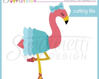 Flamingo SVG, ballerina SVG, ballet SVG, pink flamingo, bird svg, Dxf, Cutting Files, svg Files for Cutting Machines