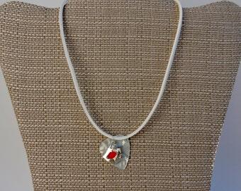 Love  Charm Necklace, Guitar Pick Choker Necklace, Faux Suede Necklace
