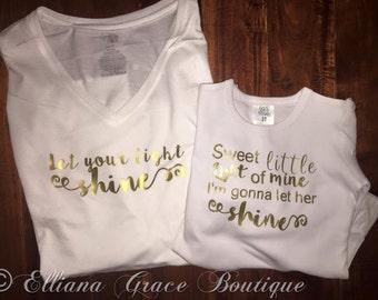 Let Your Light Shine Shirt Women's Juniors, Girls