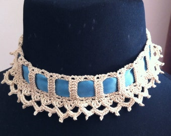 Ivory arch and picot choker