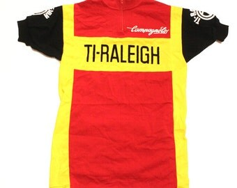 70's vintage Deadstock TI RALEIGH CAMPAGNOLO cycle jersey made in france