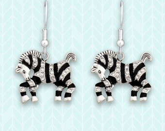 Zebra Earrings - 48055