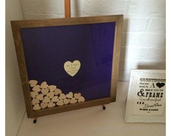 Wedding guest book - Guest book - Wood guest book - Custom guest book - Drop top guest book - Guest book ideas - Purple guest book 125