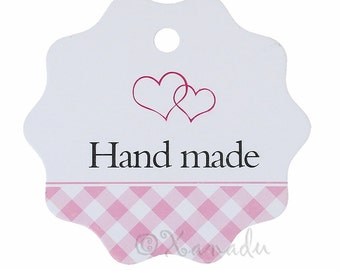 Pink Hand Made Paper Tags - 20/50/100 Wholesale Price, Clothing, Jewelry, Consignment Tags P4548