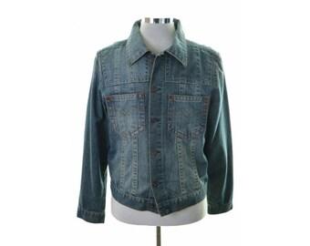 Replay Mens Denim Jacket Large Blue Cotton