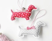 Sausage Dog Decorations, Christmas Dachshund Gift, Doxie Dachshund, Christmas Dog Lover Gift, Sausage Dog Art - Christmas Decorations