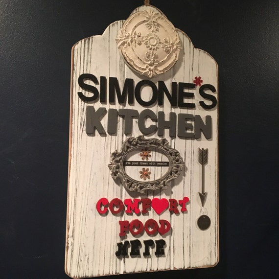 Personalized Name Kitchen Sign Custom Kitchen Wall Decor