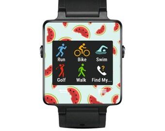 Skin Decal Wrap for Garmin Vivoactive Forerunner Watch cover sticker Watermelon Slices