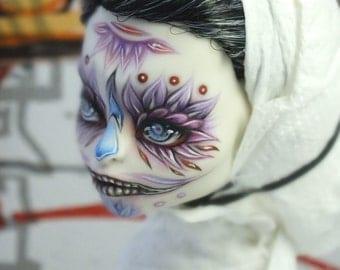 Monster high OOAK Skelita Calaveras repaint custom doll by RonnikBC
