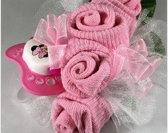Baby Shower Baby Shower Decor Baby  Shower Gift Baby Sock Corsage with Pacifier