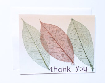 Thank You Card // Leaves // Simple