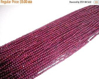 10% Off 2.5mm AAA Natural Garnet Bead Strands, January Birthstone Beads