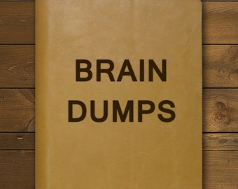BRAIN DUMPS | Tan Leather Notepad