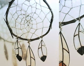 Stained Glass Feather Dream Catcher