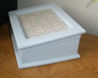 shabby chic jewellery box, unusual desk shape, dressing table organiser
