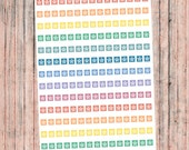 HOURLY COVER UP Strips, Functional Planner Stickers. Rainbow asterisk labels to make lists in Hourly Erin Condren Life Planners & agendas